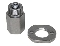 ZEC WHEEL 5/8-11 THREAD NUT Adapter